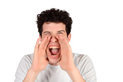Man shouting. Stock Images
