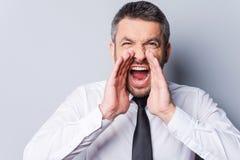 Man shouting. Royalty Free Stock Photography