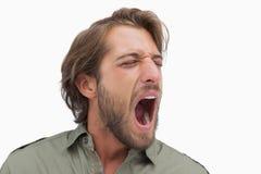 Man shouting in a shirt Stock Photos