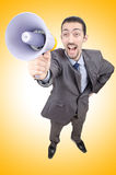 Man shouting and yelling Royalty Free Stock Photography