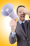 Man shouting and yelling Royalty Free Stock Images