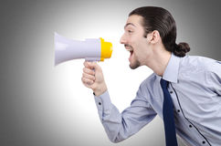 Man shouting and yelling Stock Images