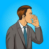 Man shouts with hand pop art style vector Stock Photo