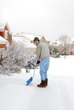 Man Shoveling Snow Stock Photo