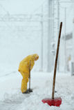 Man shoveling snow Royalty Free Stock Images