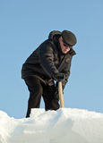 Man shovelling snow Royalty Free Stock Image