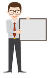 A man show blank board vector design. Royalty Free Stock Photography