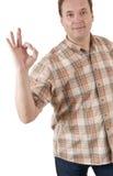 Man show ok sign Stock Images