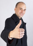 Man show thumb up sign Stock Image