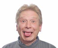 Man show tongue Stock Image