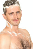 Man in shower Stock Photos