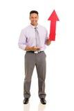 Man showing arrow symbol Stock Photo