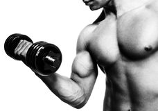 Man showing biceps Stock Image