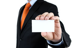 Man showing blank card Royalty Free Stock Images