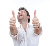 Man showing both thumbs up Royalty Free Stock Photos