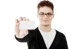 Man showing business Stock Photo