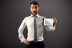 Man showing business graph Stock Photo