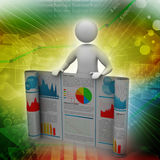 man showing  the business report Stock Photo