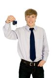 Man showing car key Royalty Free Stock Photos