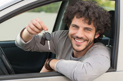 Man Showing Car Key Royalty Free Stock Photo