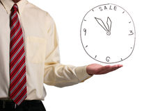 Man showing a clock Stock Photos