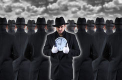 Man showing the clock Royalty Free Stock Images