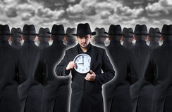 Man showing the clock Royalty Free Stock Image