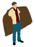 Man showing coat Stock Photo
