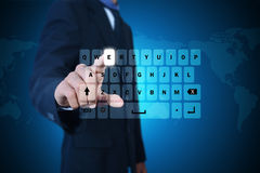Man showing computer keys Stock Images