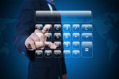 Man showing computer keys Royalty Free Stock Photography