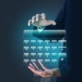 Man showing computer keys Stock Image