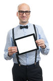 Man showing digital tablent with blank screen Royalty Free Stock Image