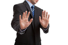 Man showing disgust Stock Photo