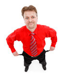 Man showing empty pocket. Top view of poor man showing his empty pocket Royalty Free Stock Photo