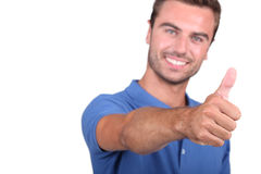 Man showing everything is fine Stock Photography