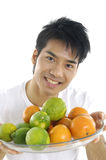 Man showing fruit Royalty Free Stock Photo