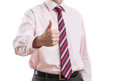 Man showing gesture of acceptance Royalty Free Stock Photos
