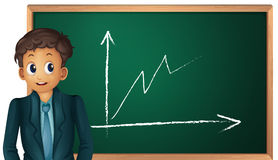 Man showing graph Stock Photos
