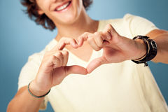 Man Showing Heart Stock Image