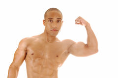 Man showing his biceps. Stock Photo