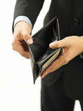 man showing his empty wallet Royalty Free Stock Photo