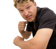 Man showing his fist Royalty Free Stock Photography