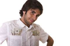 Man showing his money Stock Photo