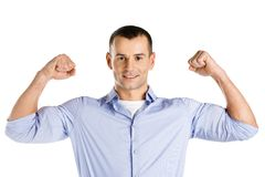 Man showing his muscles Stock Photography