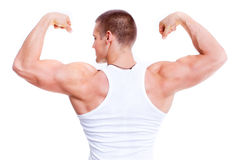 Man showing his muscular Royalty Free Stock Photo