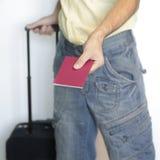 Man showing his passport Royalty Free Stock Image