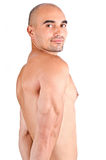 Man showing his triceps. Royalty Free Stock Photos