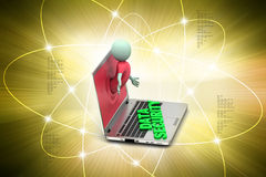 Man showing the information technology Royalty Free Stock Photo