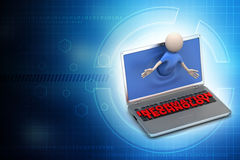 Man showing the information technology Stock Images
