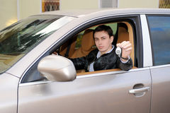 Man showing the keys Stock Photography